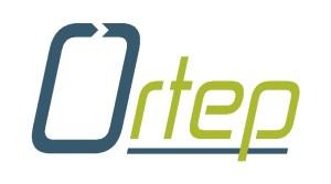 Ortep logo bile pozadi